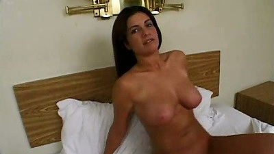 On the bed and ass licking skinny slut Jane with rimjob for guy