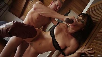 Sucking dildo from flat chest girl Dana DeArmond