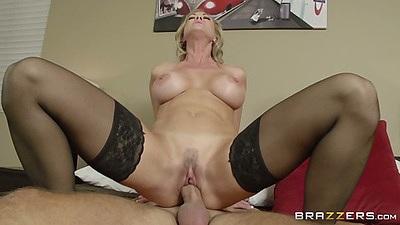 Reverse cowgirl milf with perfect body sex Brandi Love