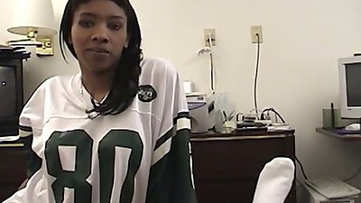 Amateur black girl sucks dick like a nympho