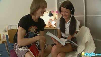 Young looking 18 year old russian school girl gets fingered