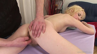 Sexy sweetheart blonde Doris hairy and happy