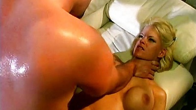 Choking milf Tina Cherie with blonde milf getting prepped for anal abuse