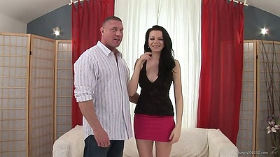 Mature girl has a very big bush and suck