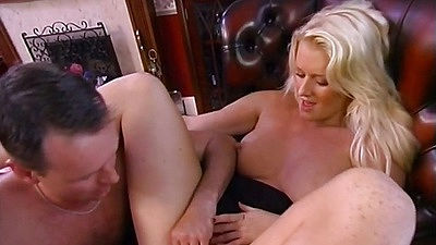 Fingering blonde UK college student in this orgy