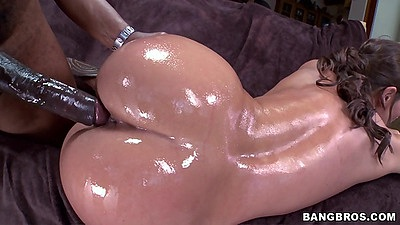 Oily and messy white girl fuck with black dick inside her Olivia Wilder