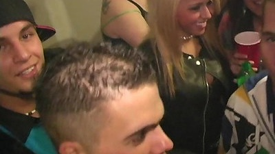 College party and girl gets fingered