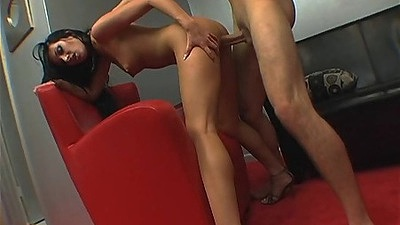 Standing fuck with seductive milf receiving it from behind Nadia Nitro