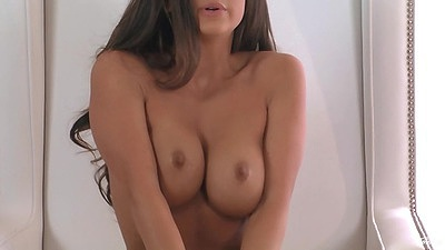 Big tits solo stunning Abigail Mac and close up fingering