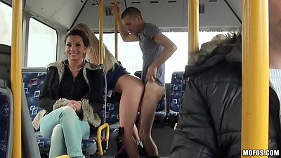 Standing fuck on a public bus while making the rounds Lindsey Olsen