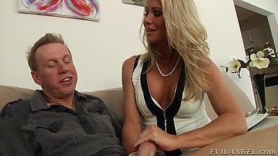 Blonde Simone Sonay a true pornstar milf deep throat