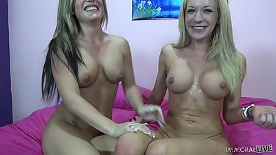 Holly Taylor and Amy Brooke skinny girsl with nice firm abs fuck