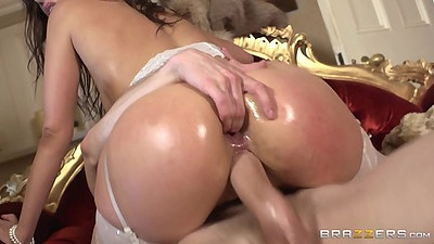 Cowgirl sex with latina getting ass fingered hardcore Samia Duarte