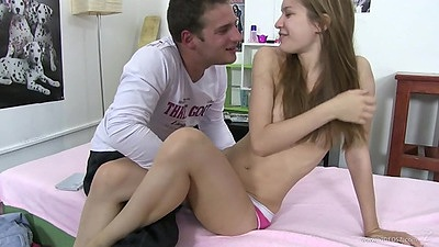 Shy 18 year old euro girl Kelly Candy legs guy eat her vagina
