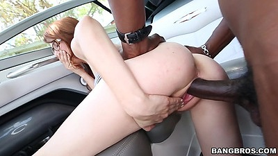 Penny Pax outdoor interracial petite sex and cowgirl